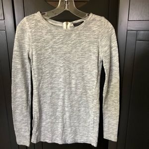 J. Crew Long Sleeve Gray Sweater Back Zipper